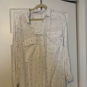 gap star print blouse